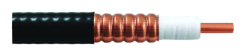 50 Ohm Coaxial Corrugated Copper Cable 1/2 Inch  Standard Low Loss Lower Smoke, Halogen-Free