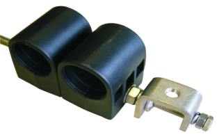 Cable Clamp for 1-1/4 Coaxial Corrugated Cable 2 Way A Type