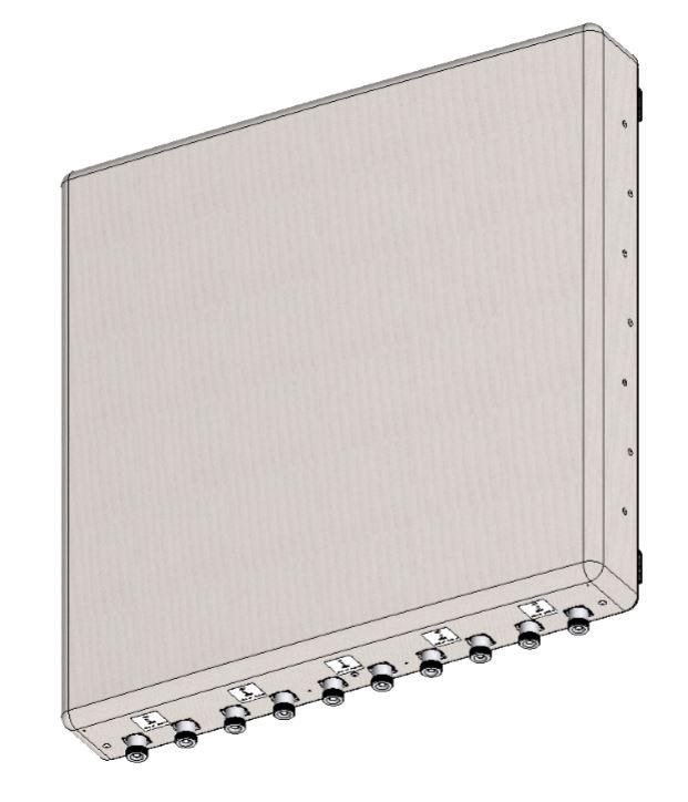 10 Port, 5 FET X Pol 1710-2690 MHz, 5x13° 5x23dBi 5 Beam 3G4G Wide Band Panel Antenna