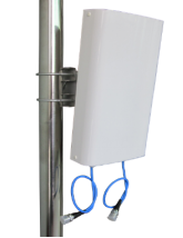 2 Port, H&V Pol 698-960/1710-2690MHz, 8dBi Directional Wall Mount Patch Outdoor MIMO Antenna