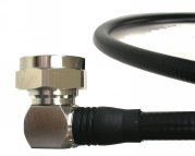 """Low PIM RF Jumper Cable 1/2"""" Super Flexible DIN Male Right Angle to DIN Male Right Angle"""