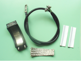 YOLYCOM Indoor Grounding Kit for 1-5/8 Corrugated Coaxial Cable Tight Contact Type