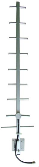 1 Port, V Pol 806-960MHz, 13dBi Yagi Directional Antenna